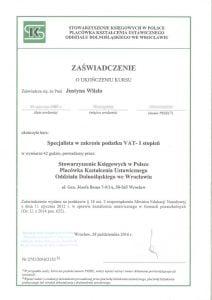 certyfikat - specjalista w zakresie podatku VAT