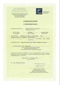 certyfikat akademii doradcy podatkowego