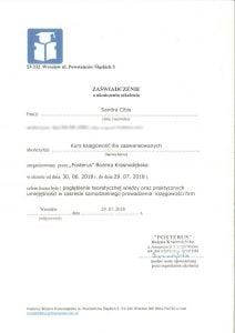 dyplom kursu - księgowość dla zaawansowanych