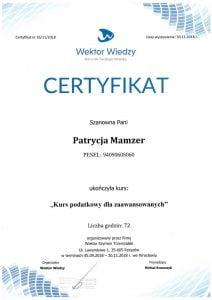 Podatki dla zaawansowanych Patrycja Mamzer