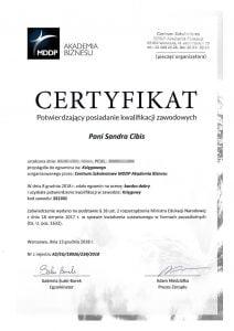certyfikat kursu kwalifikacji zawodowych księgowej