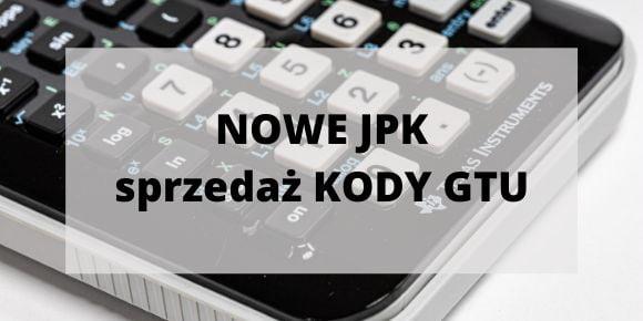 NOWE JPK sprzedaż KODY GTU
